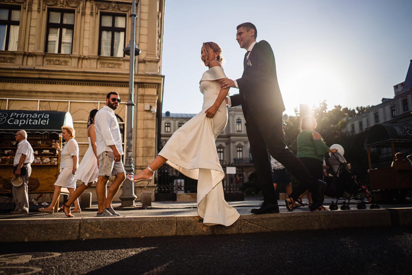 Sesiune foto pe Calea Victoriei - fotograf Ciprian Dumitrescu