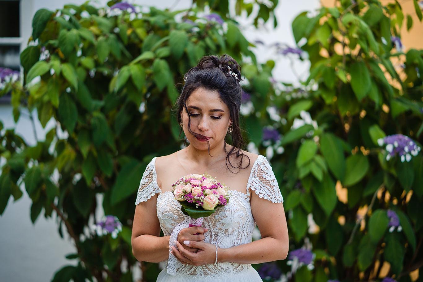 Mireasa si buchetul ei - fotograf nunta Munchen