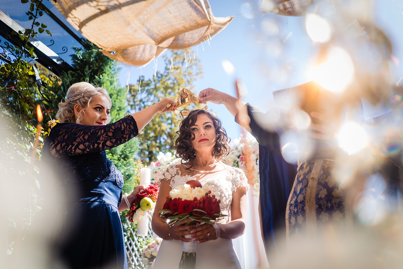 Final de ceremonie religioasa de nunta
