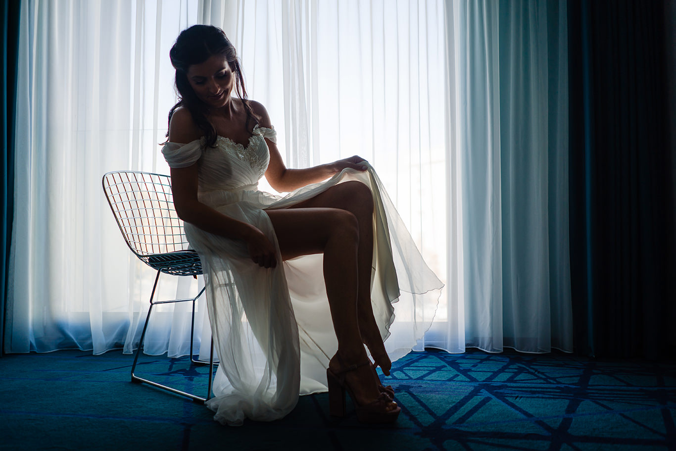 Mireasa in rochie - fotograf Ciprian Dumitrescu