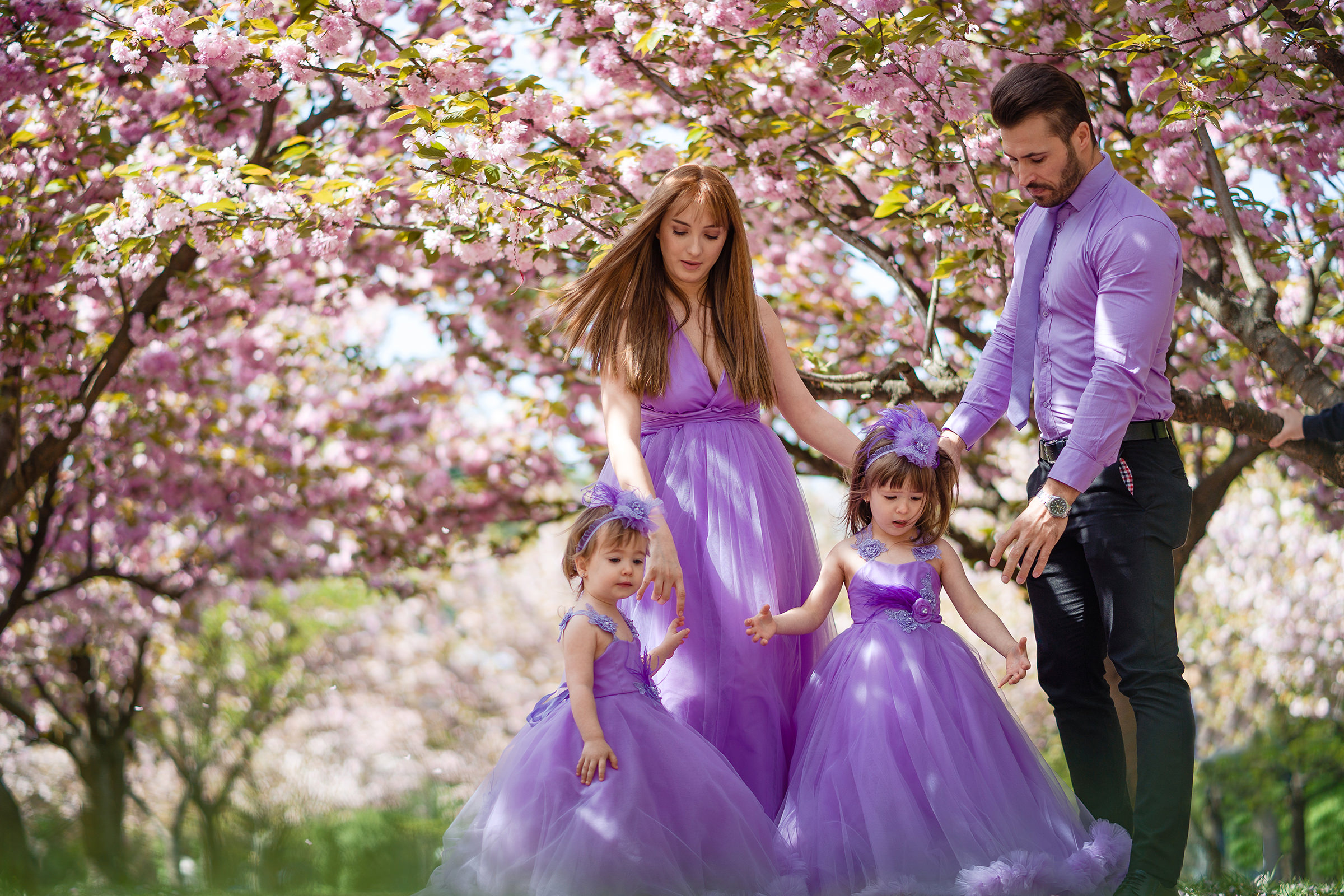 Amintiri de familie in culori de primavara