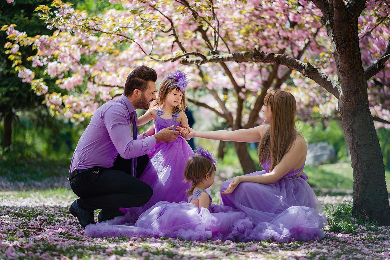 Amintiri de familie in culori de primavara - Gradina Japoneza
